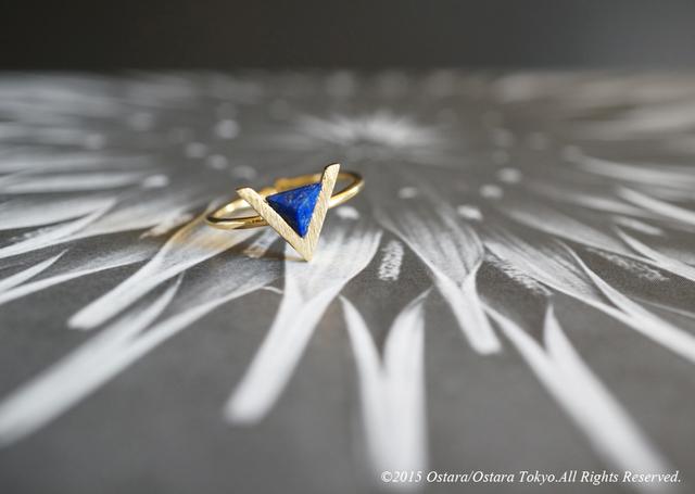 ��16KGP��Mat Gold V Adjustable Ring,