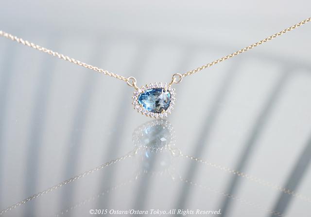 【14KGF】Necklace,CZ Montana Glass