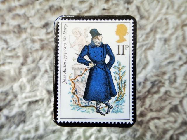 イギリス 切手ブローチ670