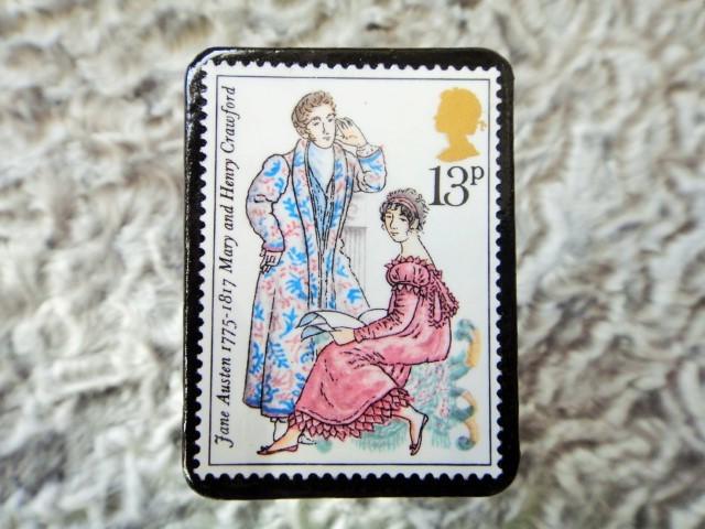 イギリス 切手ブローチ671