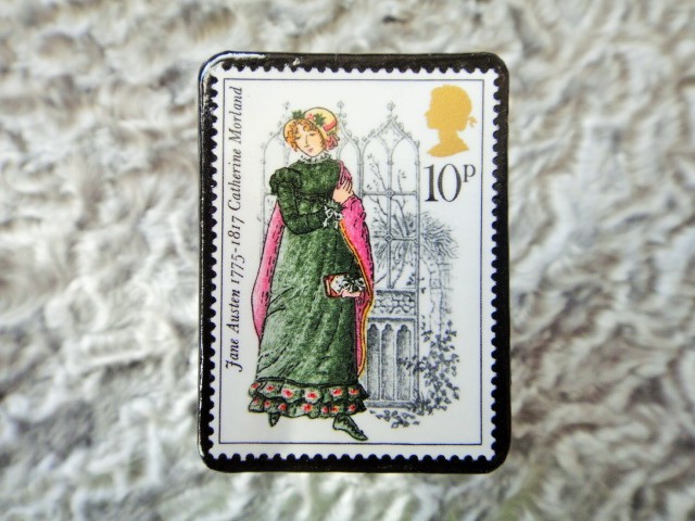 イギリス 切手ブローチ672