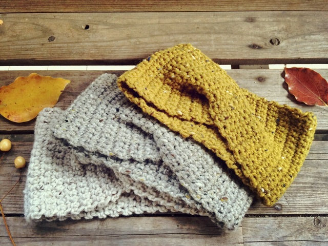 ニット 手編み ヘアバンド