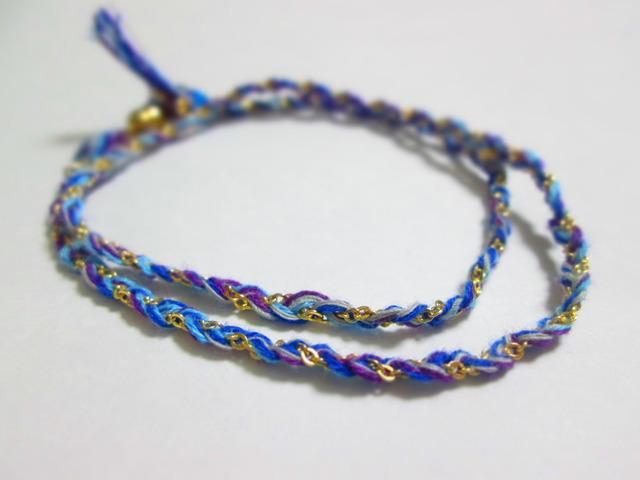 《送料無料》静電気除去ブレスレット 青×水色×紫