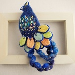 Dreamy bluebird brooch