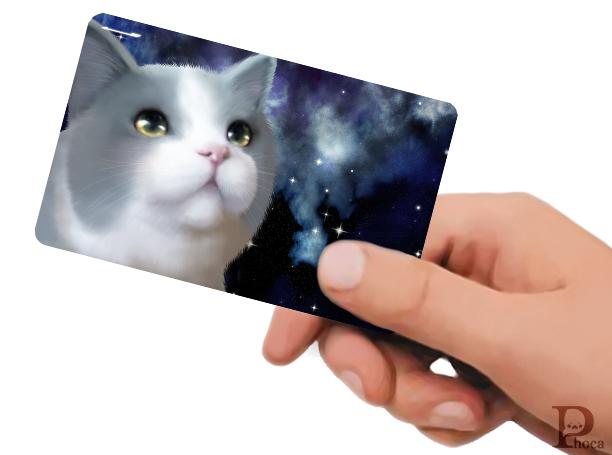 ICカードステッカー 宇宙にゃんこ