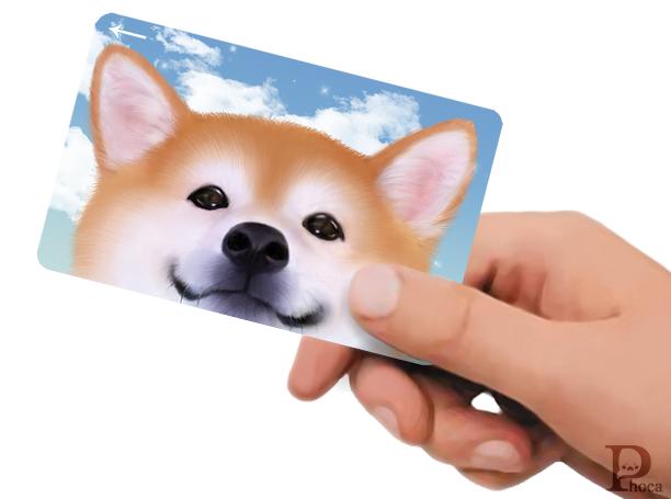 ICカードステッカー 柴犬