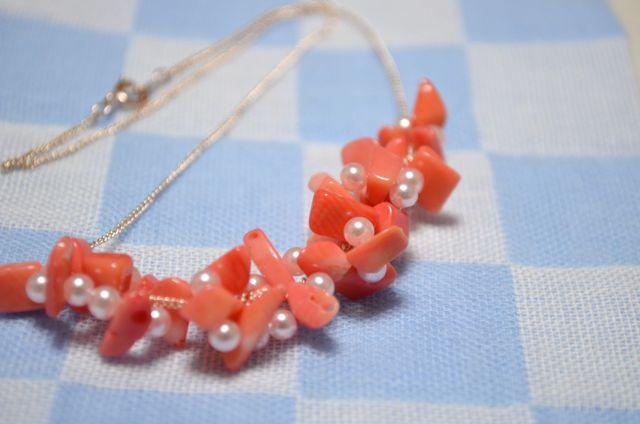 【再販】珊瑚のネックレス