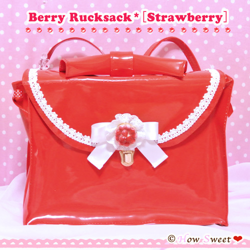 【HowSweet*】Berry Rucksack*[Strawberry]