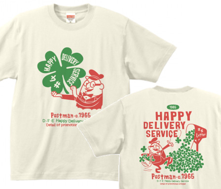 【再販】クローバー&ポストマン 両面 S〜XL  Tシャツ【受注生産品】