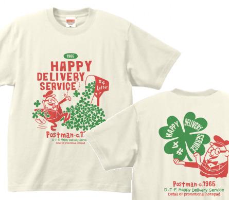 クローバー&ポストマン 両面   XS(女性XS〜S) Tシャツ【受注生産品】