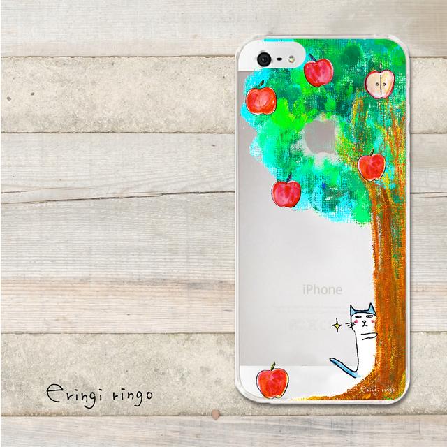 りんごを狙うねこ iPhone case(6)