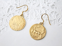 coin pierce B (gold plating)【受注制作】