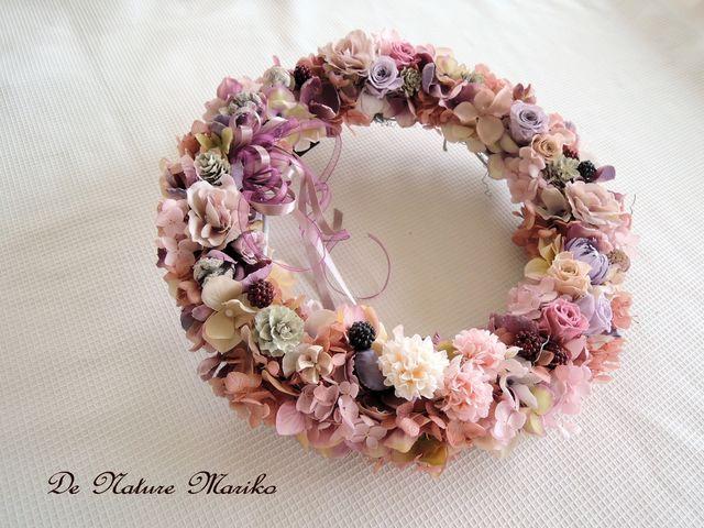 Printemps 春のロマンスピンクのおしゃれリース