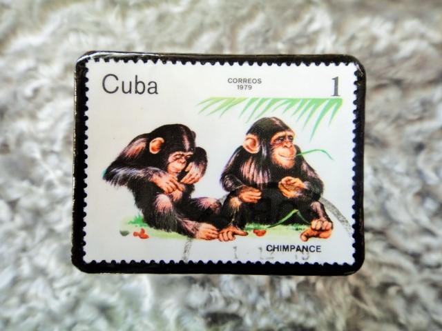 キューバ 切手ブローチ681