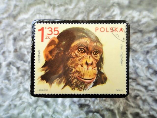 ポーランド 切手ブローチ682