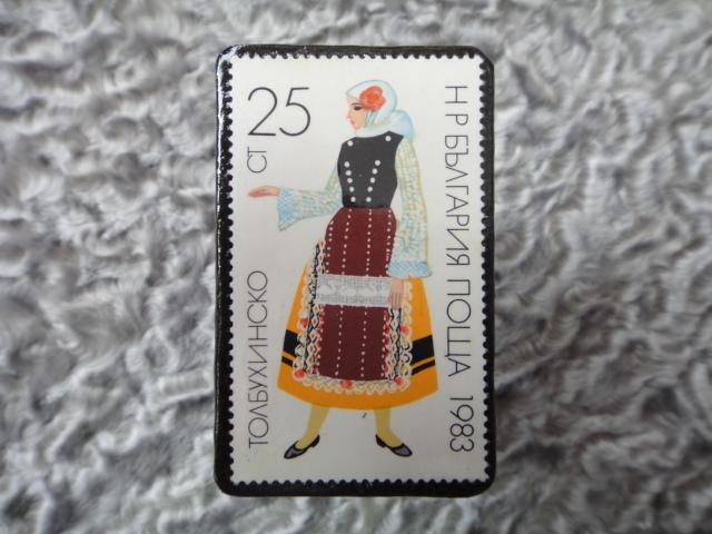 民族衣装切手ブローチ709