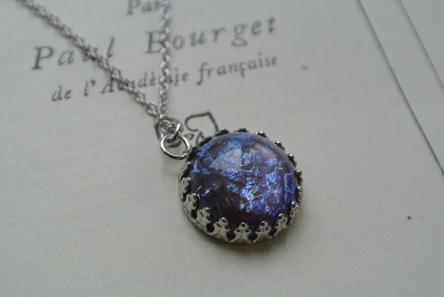 再再再再再再販 レア 紫のドラゴンズブレス アイリスパープル ネックレス