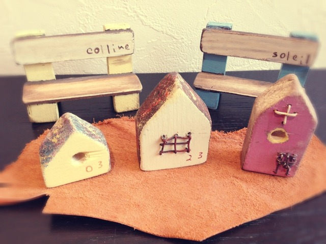 送料無料*木製ミニチュアハウス