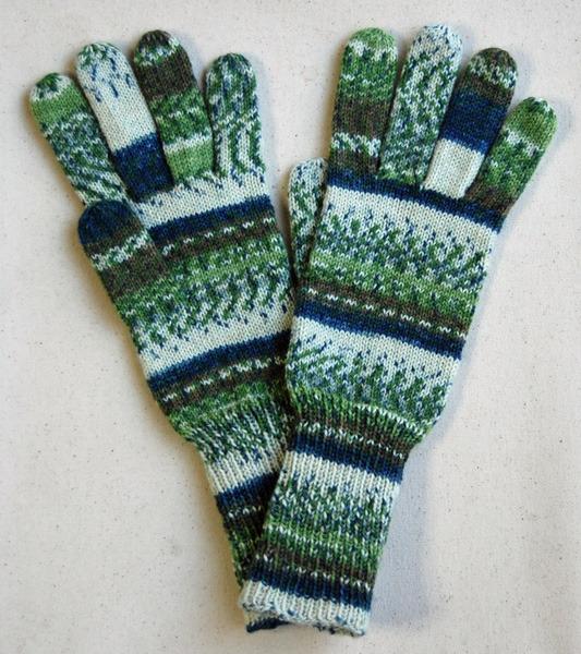 手編み5本指手袋 No.14