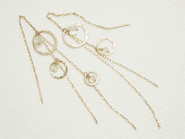 K10 Halo Moon Earrings