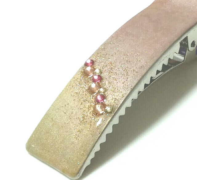 ほんのり桜/ ピンク ヘアクリップ