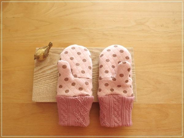 pink* ぬっくぬくミトン手袋 kids-Ssize