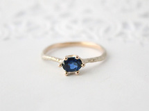 Wave ring /Sapphire (k10)