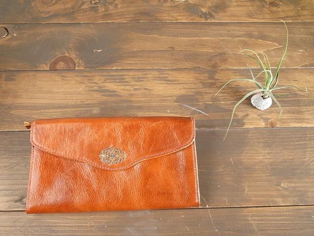 【受注製作】小さな楕円形フィリグリーの長持ち長財布