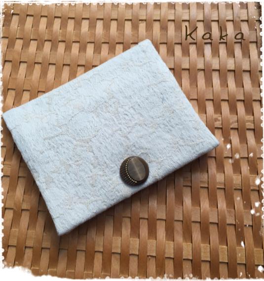 ポケット付き二つ折り・ポケットティッシュケース/ベージュ