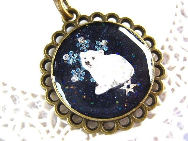 Blue ocean white bear (ストラップ)_344 s3 15p