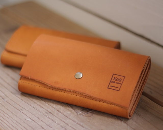 革の長財布 Long WALLET / Naturalcut / Camel