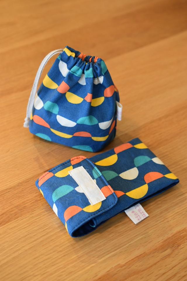 【受注製作】コップ袋とカトラリーケースMセット