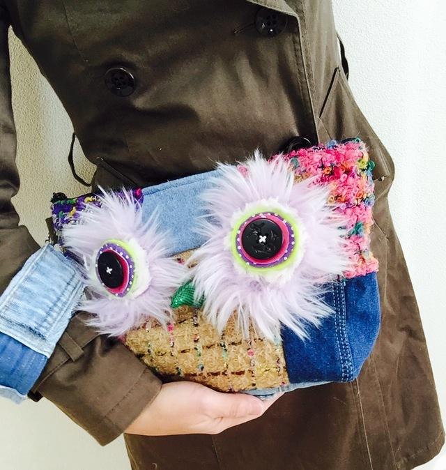 フクロウのクラッチバッグ