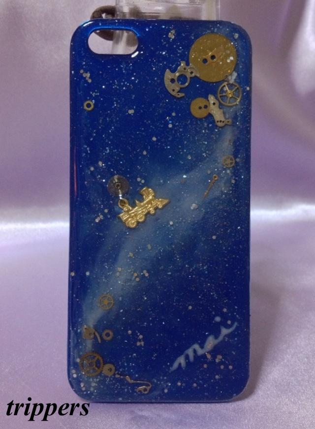 蒼い宇宙のiPhone5ケース【ms2k様オーダー品】