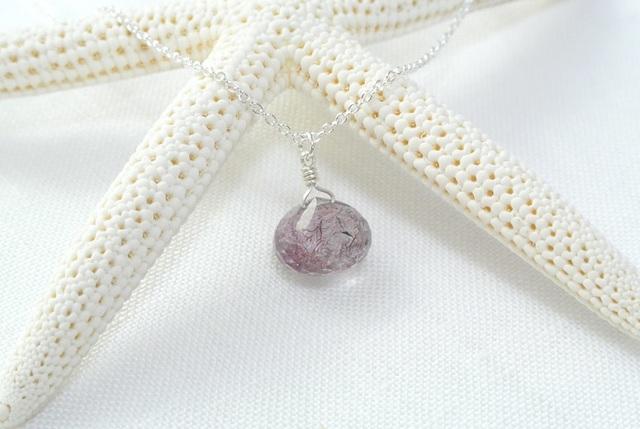 【silver925】エレスチャルクォーツ(薄紫)のネックレス