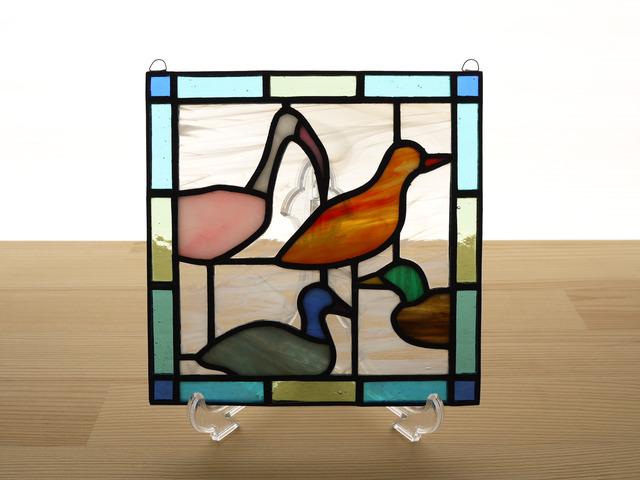 ステンドグラス ミニパネル デコイ 15cm