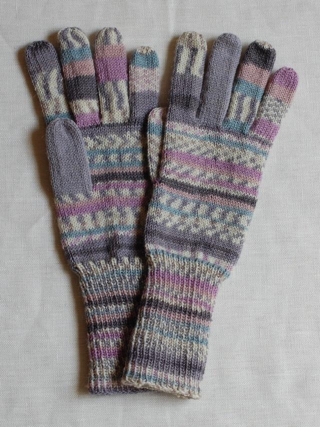 手編み5本指手袋 No.48
