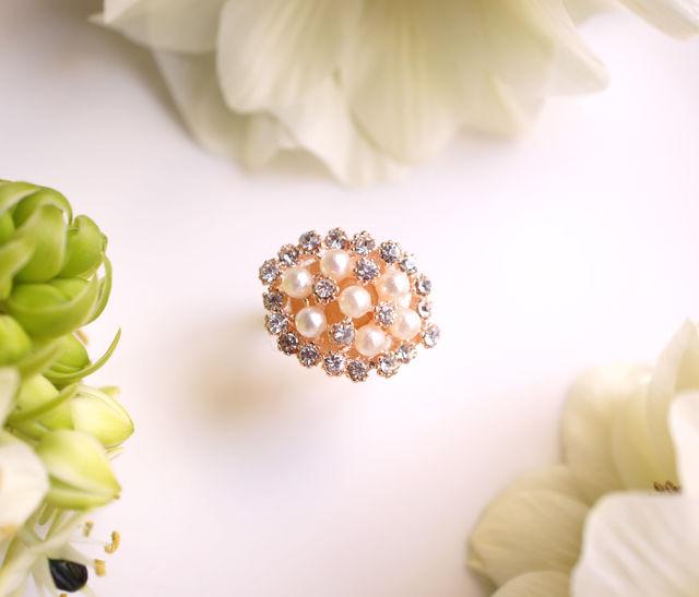 フリーサイズ★紫陽花のリング 〜Hydrangea