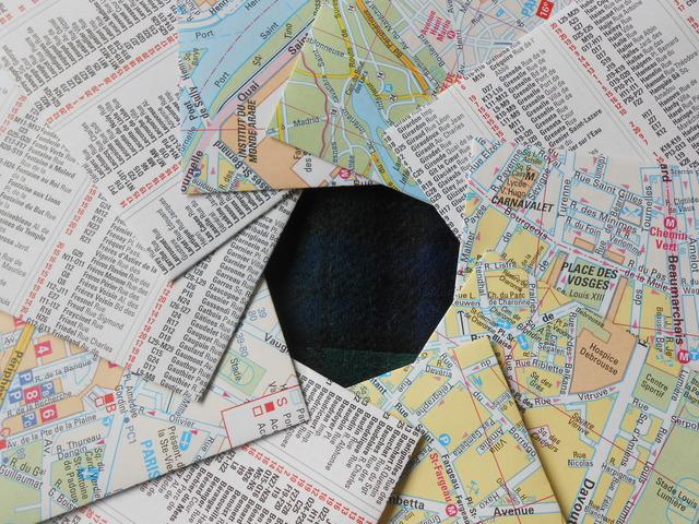 {再販}パリの地図ポチ袋10枚