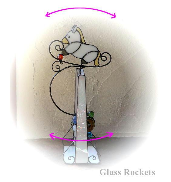 お馬のスイング♪ ステンドグラス 再販 オーダー製作