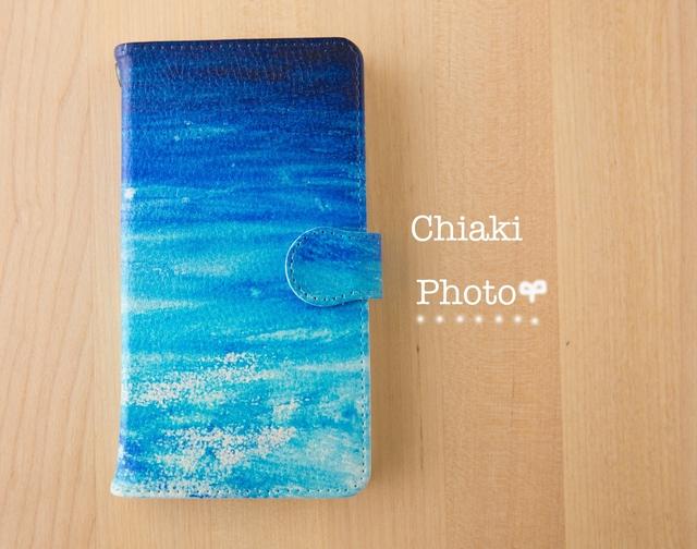 d8ccb869da 全機種対応】Blue splash*iphone/Androidスマホケース【手帳型 ...