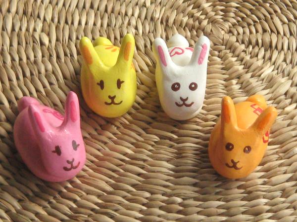 ウサギのハシ置きセット