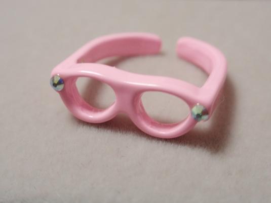 めがねリング(ピンク)