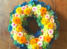 L size order-made preserved flowers wreath  M様オーダー品