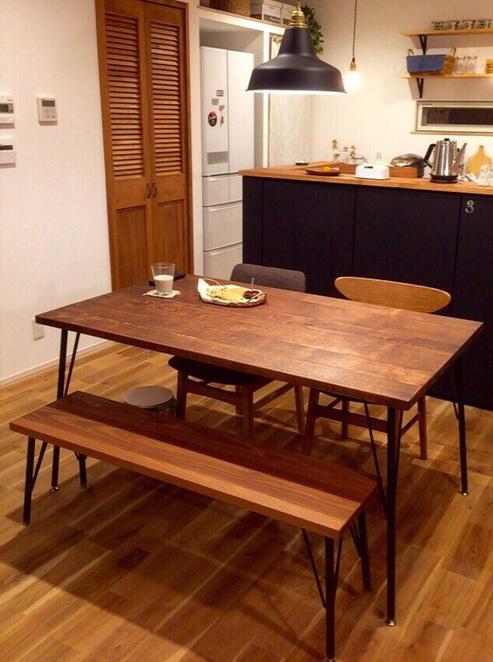 Rustic work table & bench set 14*75 ���꣱
