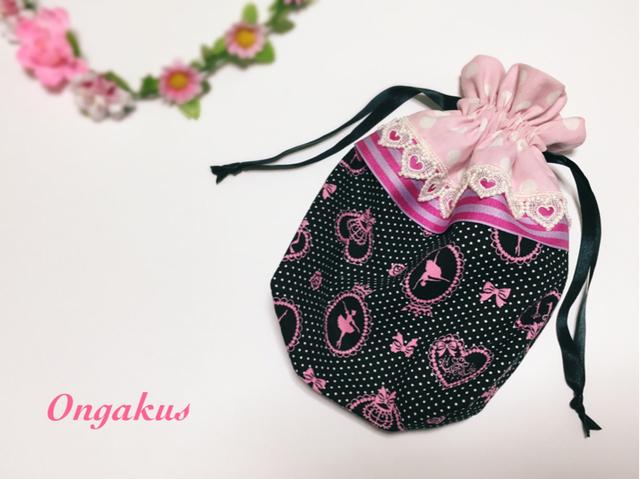 おしゃれ巾着*Pinkバレリーナ