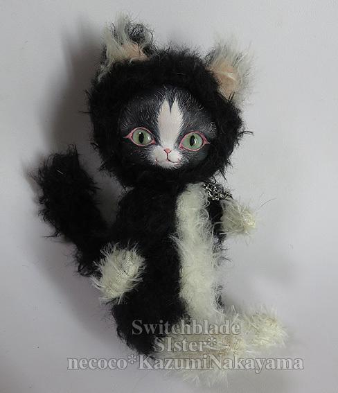 フェイスタイプドール*猫(黒×白 ペイルブルーアイ)