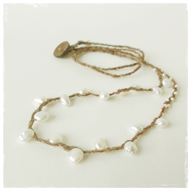 【金属フリー】Pearl pearl necklace