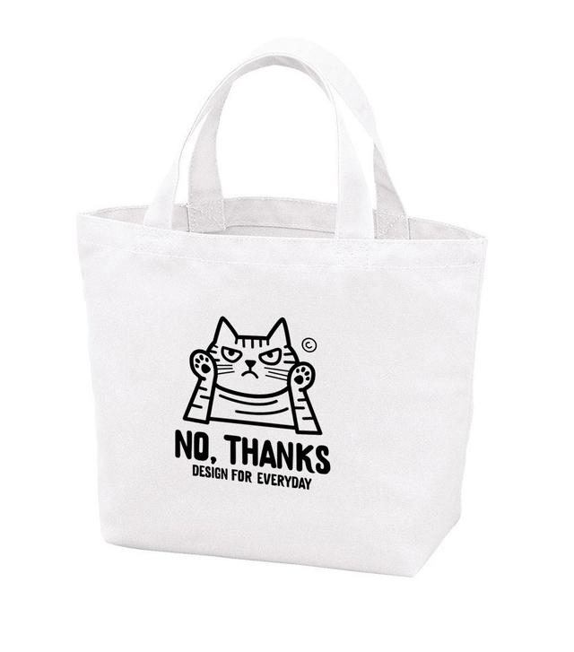 NO, THANKS 〜ねこシリーズ〜  ポリキャンバストートバッグS 【受注生産品】