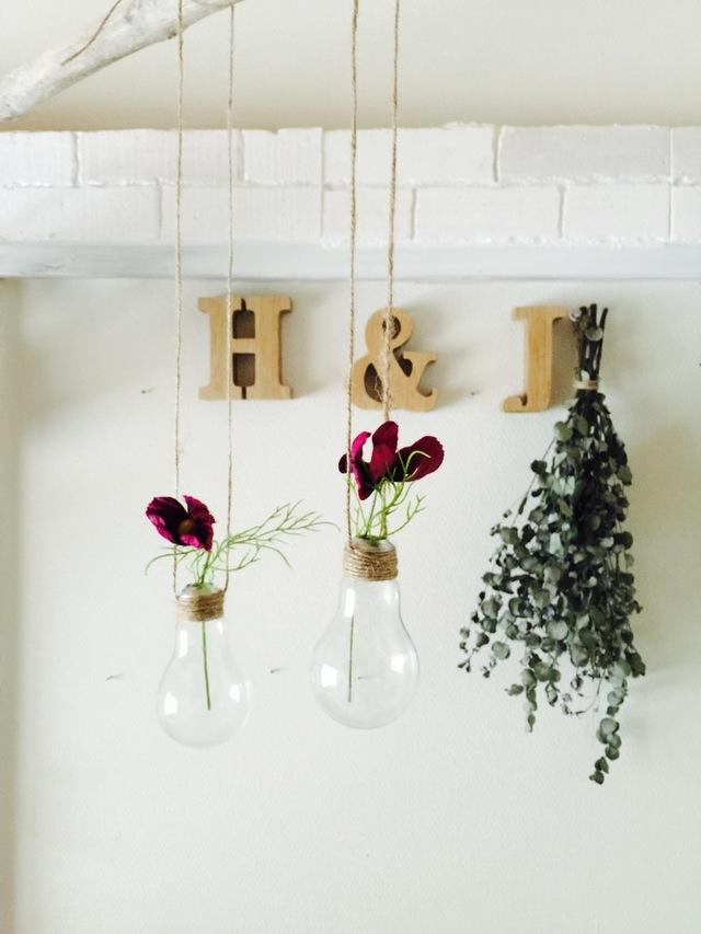 ☆電球の吊り下げ花瓶2個セット